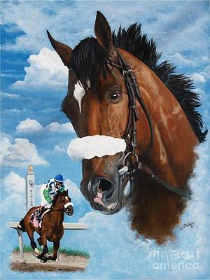 Horse Racing Painting - spirit of Barbaro by Pat DeLong
