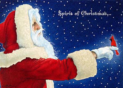 Santa Claus Painting - Spirit Of Christmas... by Will Bullas