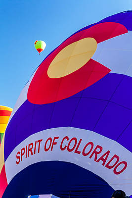 Hot Air Balloon Race Photograph - Spirit Of Colorado Proud by Teri Virbickis