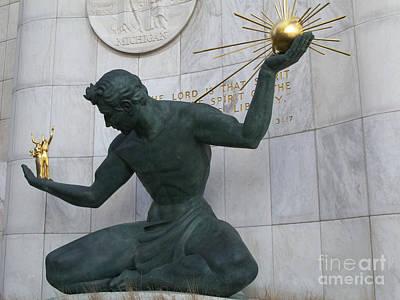 Spirit Of Detroit Art Print