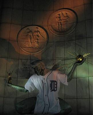Photograph - Spirit Of Detroit Tigers by Crystal Hubbard