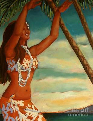Art Print featuring the painting Spirit Of Hula Detail by Janet McDonald