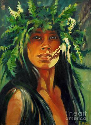 Painting - Spirit Of Kapinao Heiau by Isa Maria