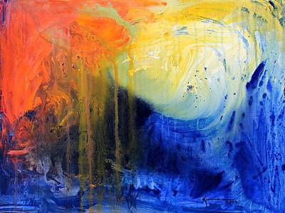 Painting - Spirit Of Life - Abstract 7 by Kume Bryant