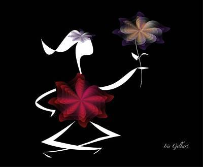 Digital Art - Spirit Of Love 2 by Iris Gelbart