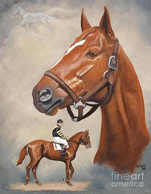 Horse Racing Painting - spirit of Man O'War by Pat DeLong