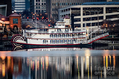 Riverboat Photograph - Spirit Of Peoria Riverboat by Paul Velgos