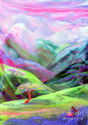 Meditating Painting - Spirit Of Spring by Jane Small