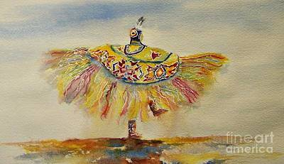 Pow Wow Painting - Spirit Of The Butterfly by Elizabeth  Webb