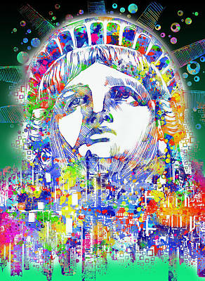 Liberty Painting - Spirit Of The City 4 by Bekim Art