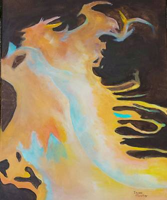 Painting - Spirit Of The Fire by Isaac Alcantar