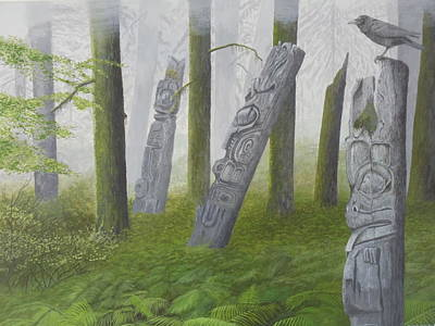Painting - Spirit Of The Forest by James Lawler