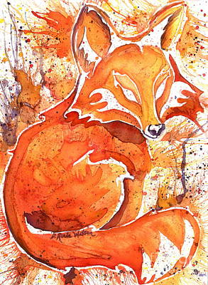 Fox Kit Painting - Spirit Of The Fox by D Renee Wilson