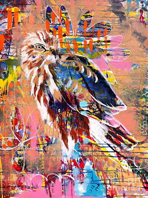 Painting - Spirit Of The Hawk by Kim Heil