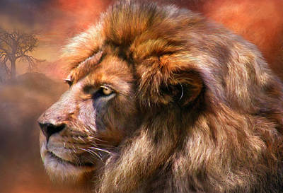 Spirit Of The Lion Art Print by Carol Cavalaris