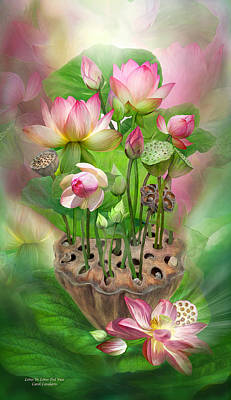 Spirit Of The Lotus Art Print by Carol Cavalaris