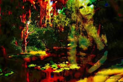 Fantasy Nudes Digital Art - Spirit Of The Pond by Richard Hemingway