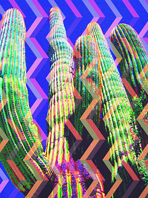 Mixed Media - Spirit Of The Saguaro by Michelle Dallocchio