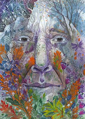 Four Seasons Tree Nature Summer Painting - Spirit Of The Seasons by Debra Collins