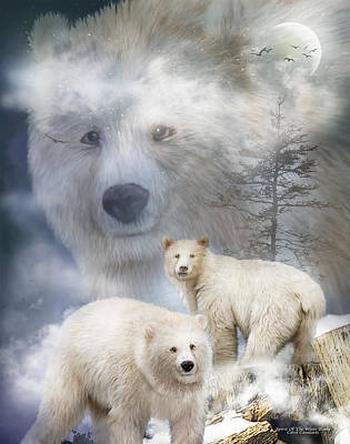 Mixed Media - Spirit Of The White Bears by Carol Cavalaris