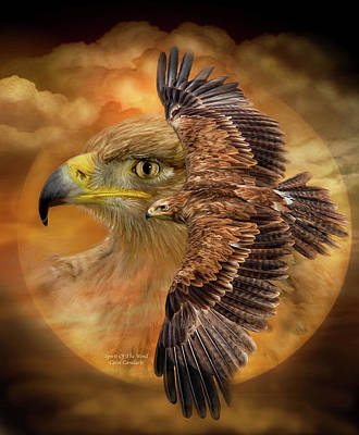 Eagle Mixed Media - Spirit Of The Wind by Carol Cavalaris