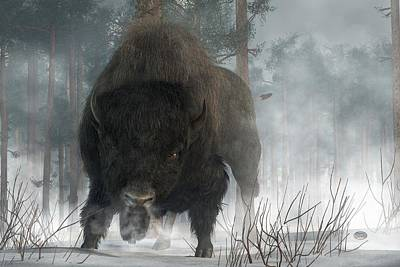 Buffalo Art Digital Art - Spirit Of Winter by Daniel Eskridge