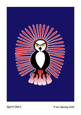 Mixed Media - Spirit Owl 1 by Art  MacKay