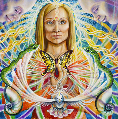 Spirit Portrait Art Print by Morgan  Mandala Manley