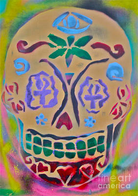First Amendment Painting - Spirit Skull by Tony B Conscious