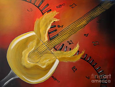 Painting - 'spirit' Ual Music by Preethi Mathialagan
