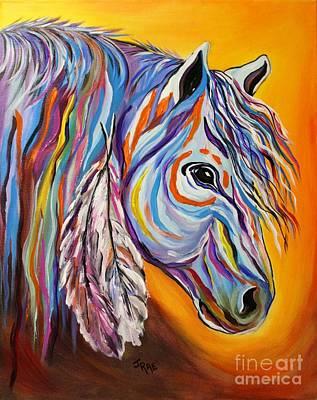 Animals Paintings - SPIRIT War Horse by Janice Pariza