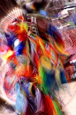 Pow Wow Photograph - Spirits 3 by Joe Kozlowski
