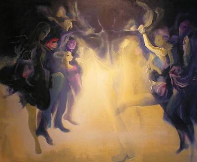 Art Print featuring the painting Spirits by Georg Douglas