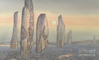 Rock Shapes Painting - Spirits Of Callanish Isle Of Lewis by Evangeline Dickson
