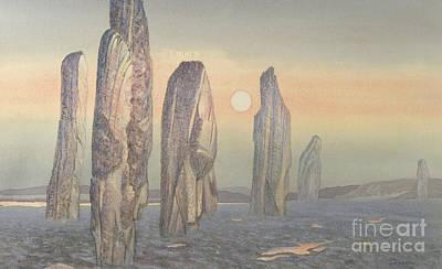 Black History Painting - Spirits Of Callanish Isle Of Lewis by Evangeline Dickson