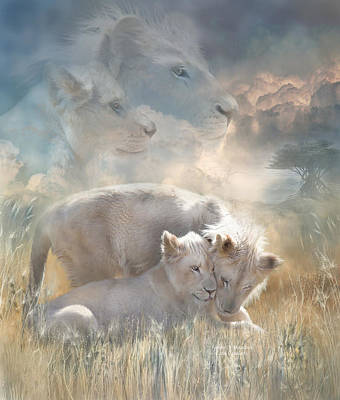 Spirits Of Innocence Art Print by Carol Cavalaris
