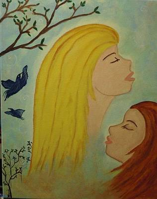 Spiritual Embrace Art Print by Marie Tucker