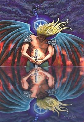 Spiritual Reflections Art Print by Karen Sue Powell