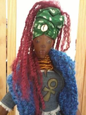African Cloth Doll Mixed Media - Spiritual by Regina Dale