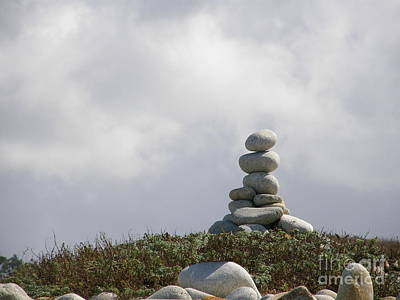 Spiritual Rock Sculpture Art Print by Bev Conover