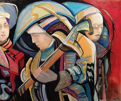 Spiritual Soldiers Art Print by Shane Guinn
