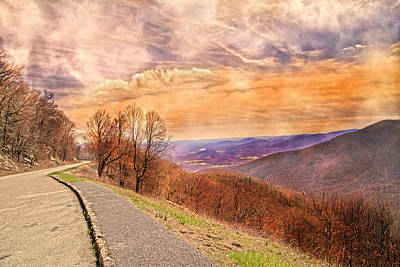 Country Scene Photograph - Spiritual Sunset Blue Ridge Parkway by Betsy Knapp