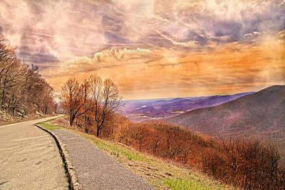 Spiritual Sunset Blue Ridge Parkway Art Print