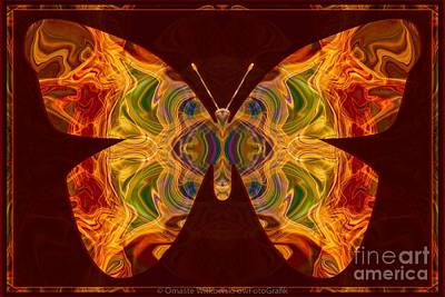 Digital Art - Spiritual Transformation Abstract Butterfly Artwork by Omaste Witkowski