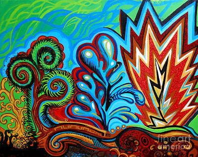 Spiro Gyra Art Print by Genevieve Esson