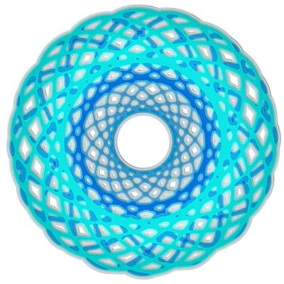 Digital Art - Spirograph Art Blue Basket by Mary Clanahan