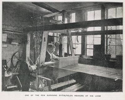 Spitalfields Weaver At His Loom Art Print