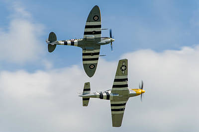 Photograph - D-day Duo Spitfire And Mustang by Gary Eason