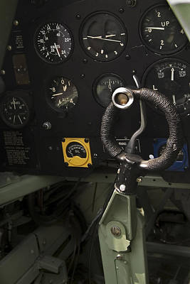 Photograph - Spitfire Cockpit by Adam Romanowicz