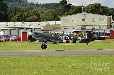 Photograph - Spitfire Fighter Taking Off by David Fowler